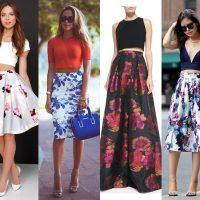 С чем носить цветочную юбку: 10 вещей для стильного образа