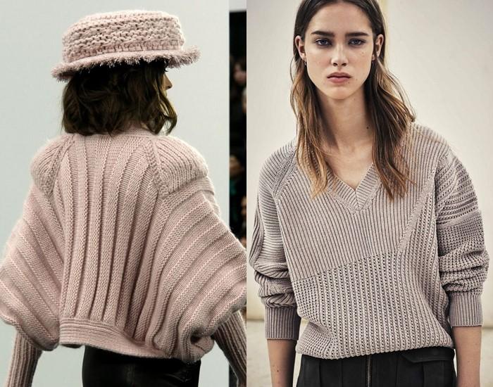 Ностальгический трикотаж: старомодные вязаные вещи - бежевые свитера резинка