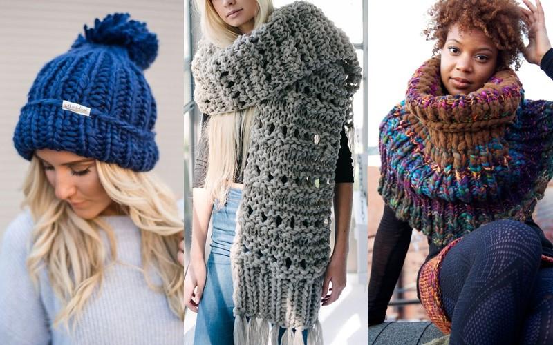 Ностальгический трикотаж: старомодные вязаные вещи - шапки и шарфы