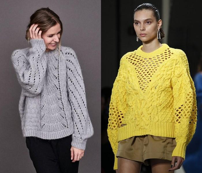 Ностальгический трикотаж: старомодные вязаные вещи - свитера с дырочками