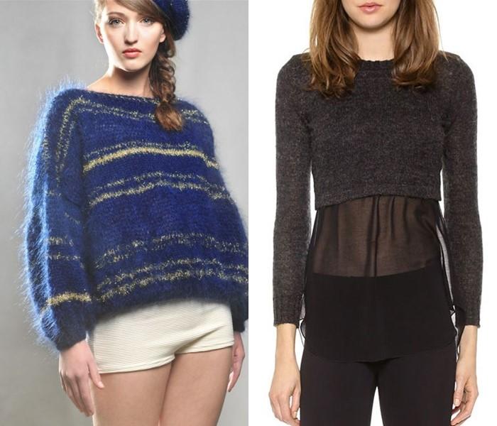 Ностальгический трикотаж: старомодные вязаные вещи - короткие свитера