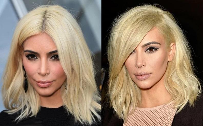 Отросшие корни у блондинок - Ким Кардашьян блонд без корней