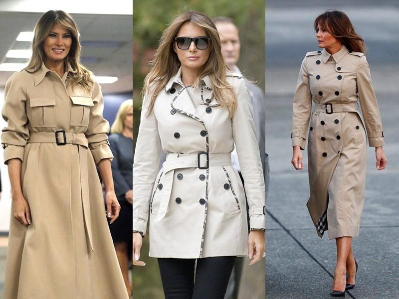 Какие пальто носит Мелания Трамп - Плащи-тренчи