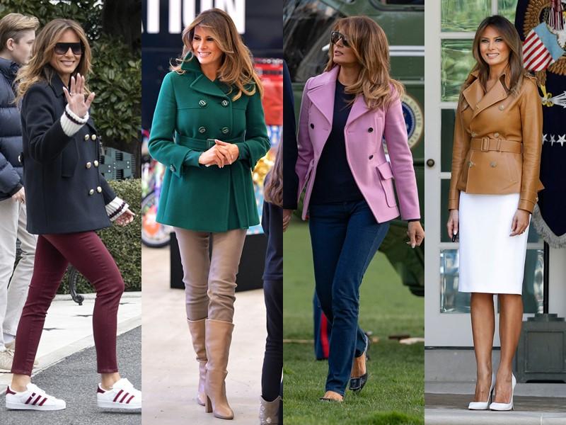 Какие пальто носит Мелания Трамп - Короткие полупальто