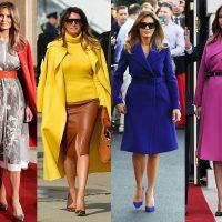 Весна-осень: какие пальто носит Мелания Трамп