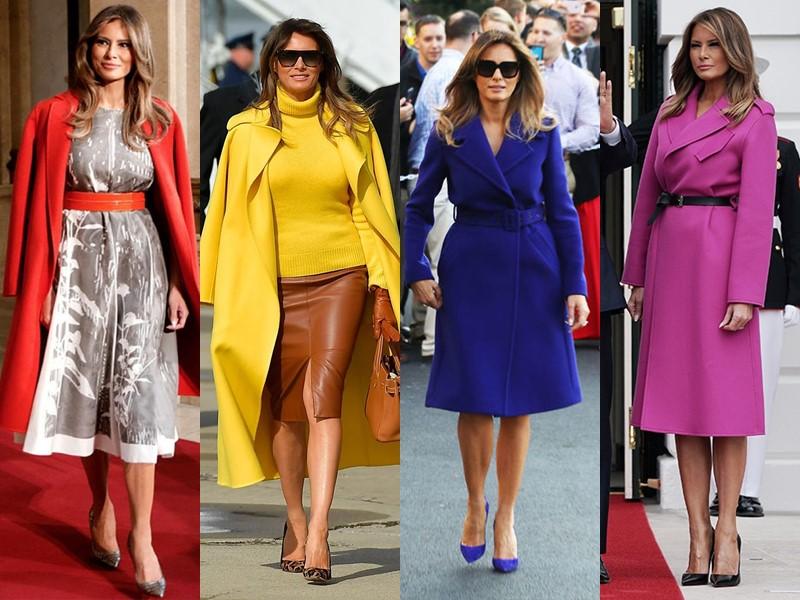 Какие пальто носит Мелания Трамп - Яркие пальто насыщенных оттенков