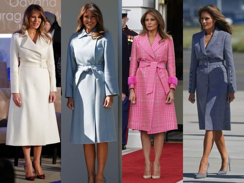 Какие пальто носит Мелания Трамп - Приталенные пальто с поясом