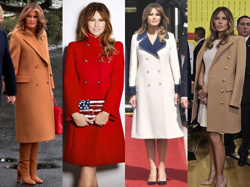 Какие пальто носит Мелания Трамп - Элегантные двубортные пальто