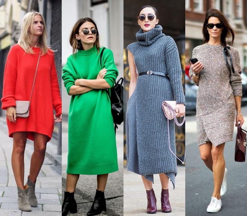 Стильный демисезон: модные платья на весну и осень - Тёплое платье-свитер