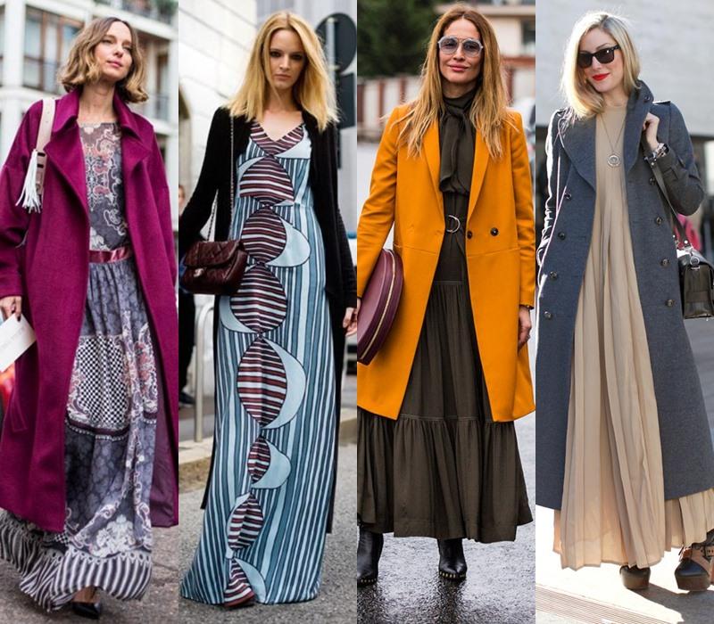 Стильный демисезон: модные платья на весну и осень - Женственное платье макси