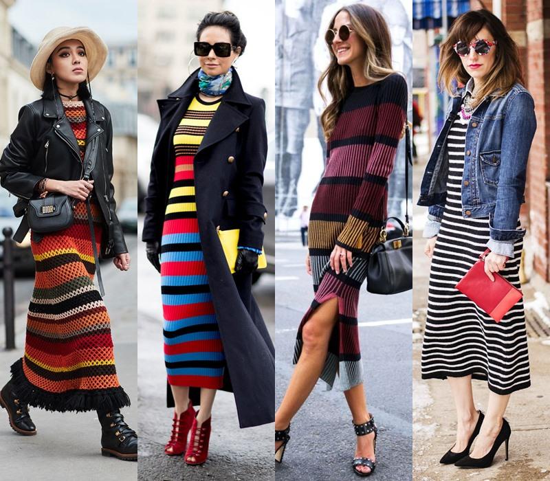 Стильный демисезон: модные платья на весну и осень - Трикотажное платье в полоску