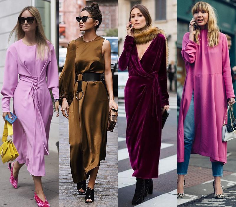 Стильный демисезон: модные платья на весну и осень - Вечернее платье с длинными рукавами