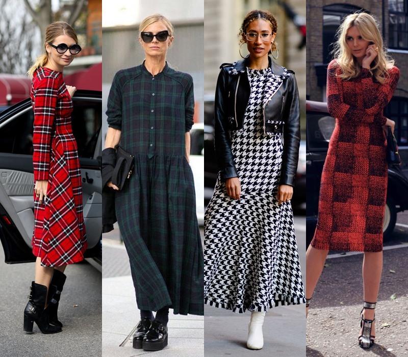 Стильный демисезон: модные платья на весну и осень - Платье в клетку