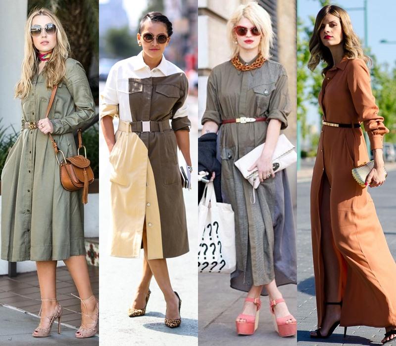 Стильный демисезон: модные платья на весну и осень - Платье рубашечного кроя