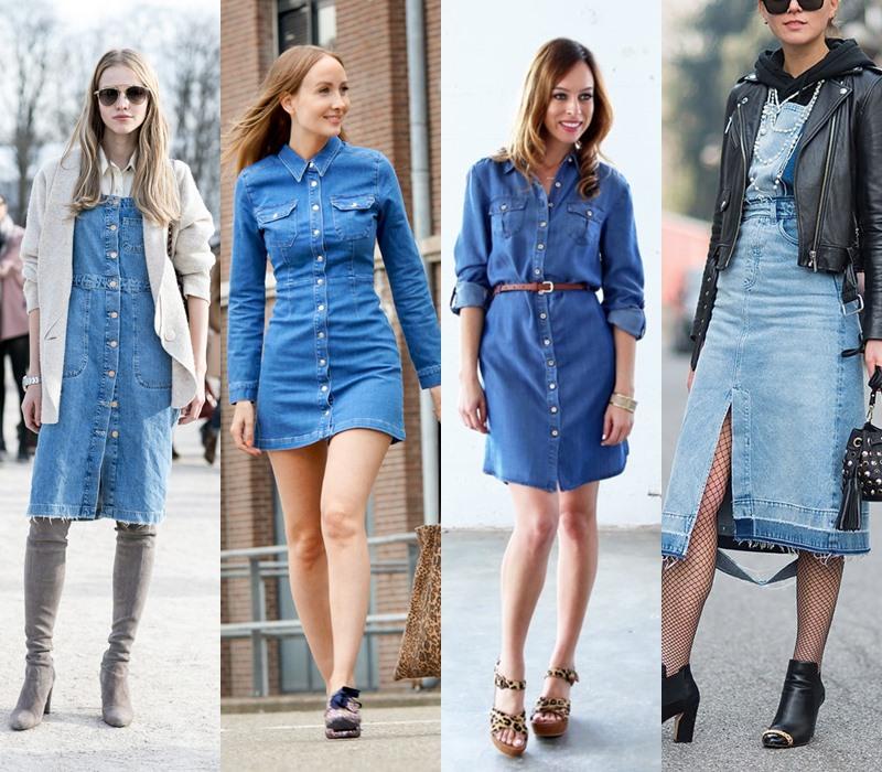 Стильный демисезон: модные платья на весну и осень - Джинсовое платье