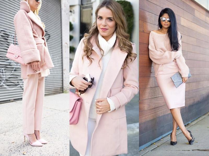 Красивые оттенки розового цвета в одежде - светлый розовый кварц
