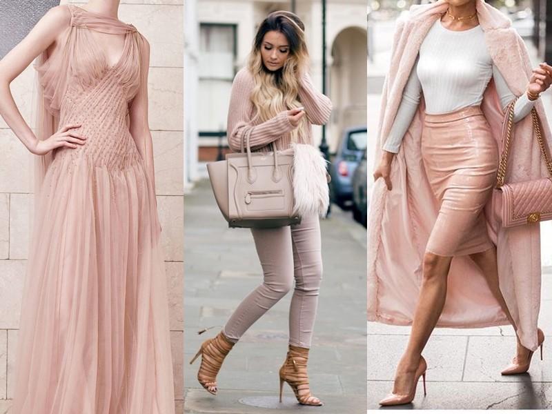 Красивые оттенки розового цвета в одежде - Пудровый (нюд)