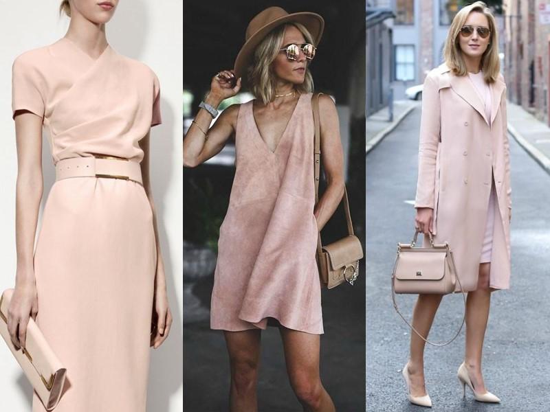 Красивые оттенки розового цвета в одежде - бежево-розовый