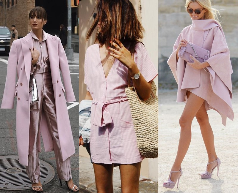 Красивые оттенки розового цвета в одежде - Холодный сиренево-розовый