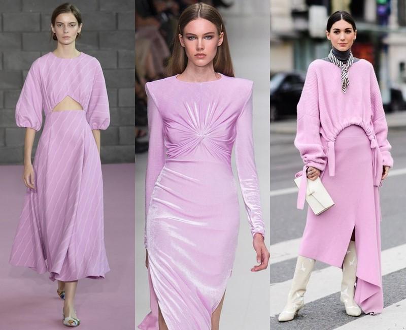 Красивые оттенки розового цвета в одежде - сиренево-розовый