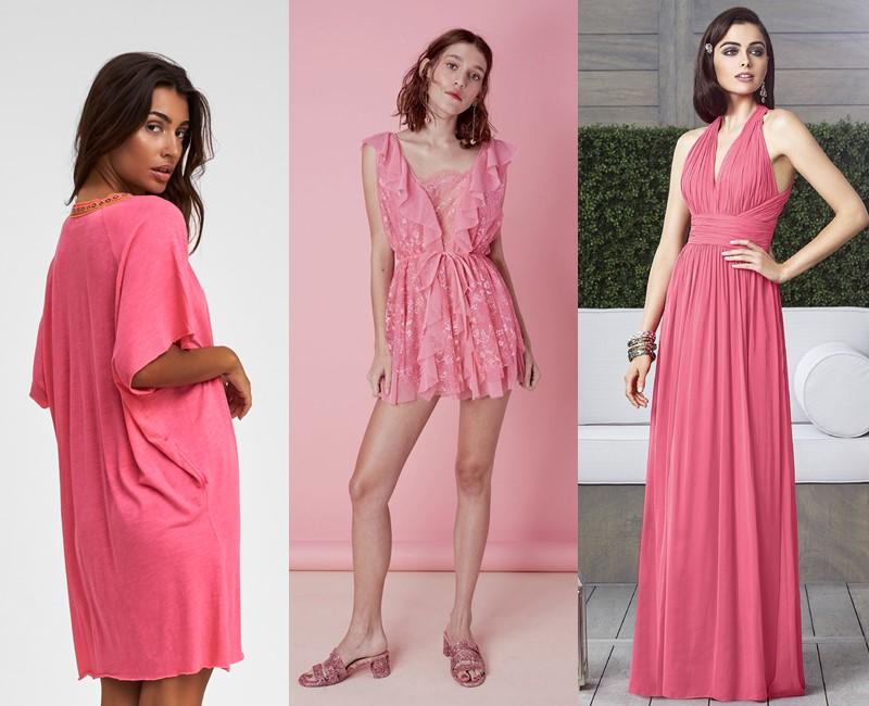 Красивые оттенки розового цвета в одежде - горячий розовый