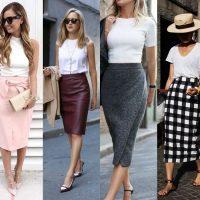 С чем носить юбку-карандаш: 10 вариантов стиля кэжуал