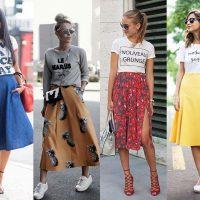 С чем носить юбку миди: 8 стильных, но не банальных способов