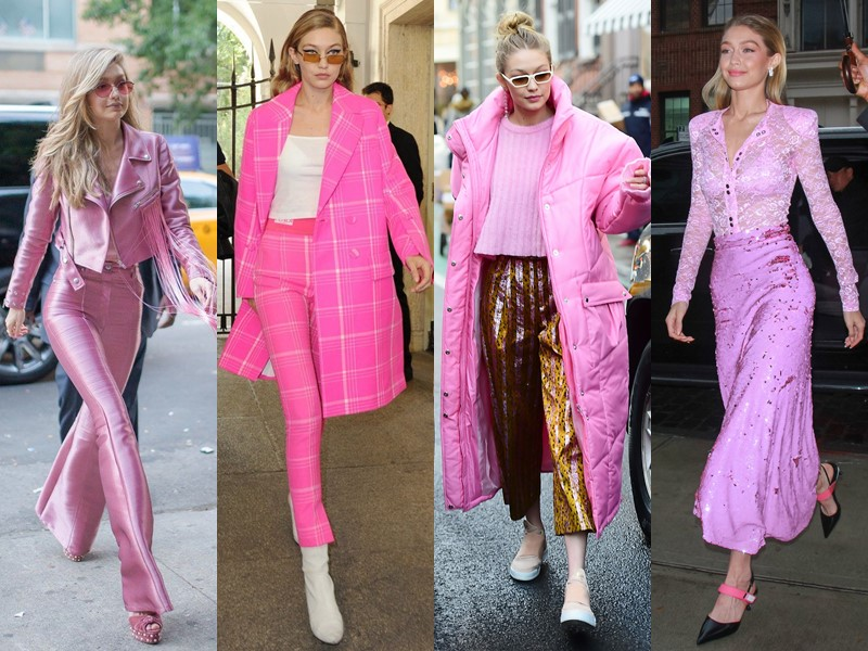 Стиль Джиджи Хадид - Оттенки розового
