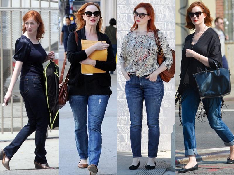 Стиль Кристины Хендрикс - Повседневные джинсы