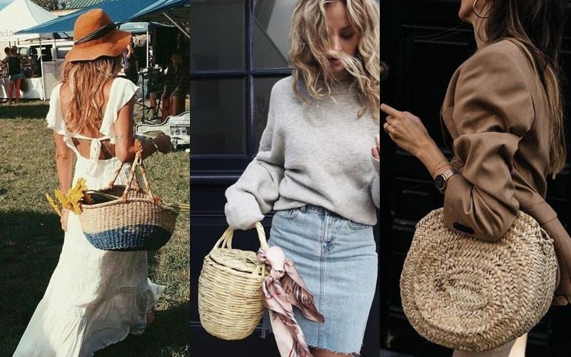 Стильные аксессуары, которые стесняются носить - Плетёная сумка или корзинка