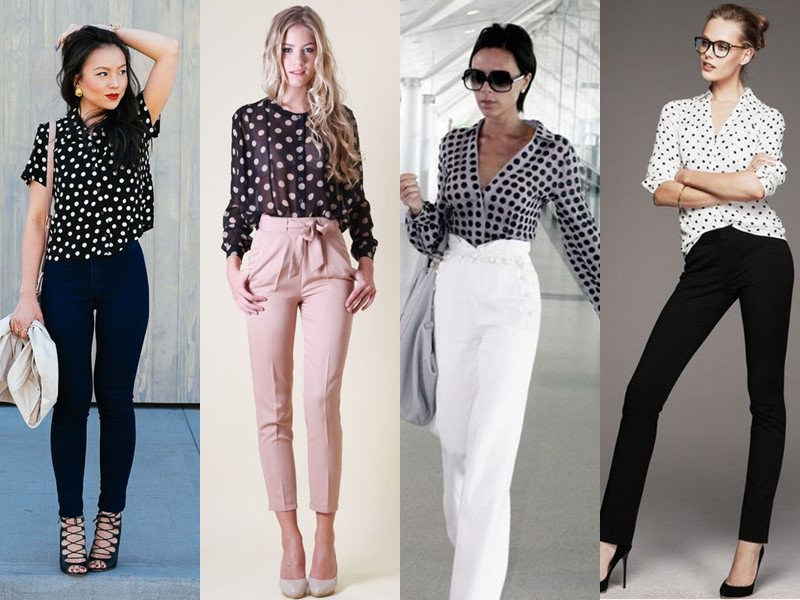 Стильные летние блузки - Модная блузка в горошек