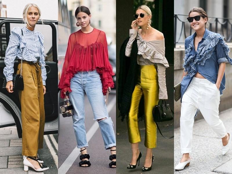 Стильные летние блузки - блузка с воланами