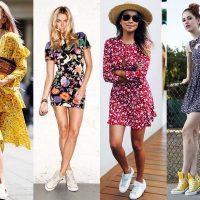 Как носить цветочное платье, чтобы выглядеть стильно и современно