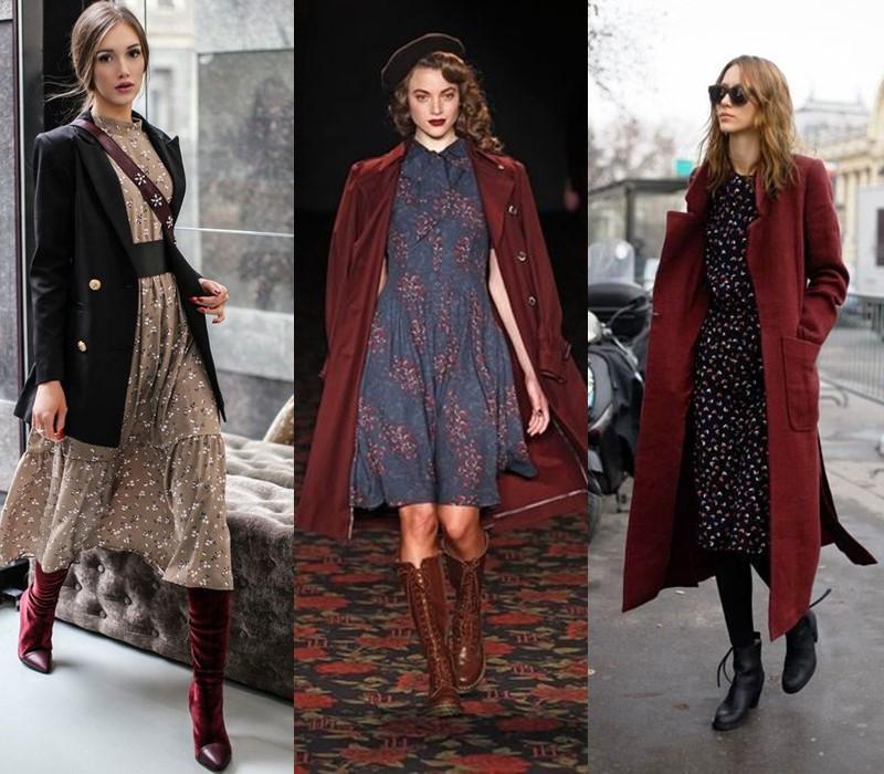 Как носить цветочное платье - с классическим пальто или блейзером в мужском стиле