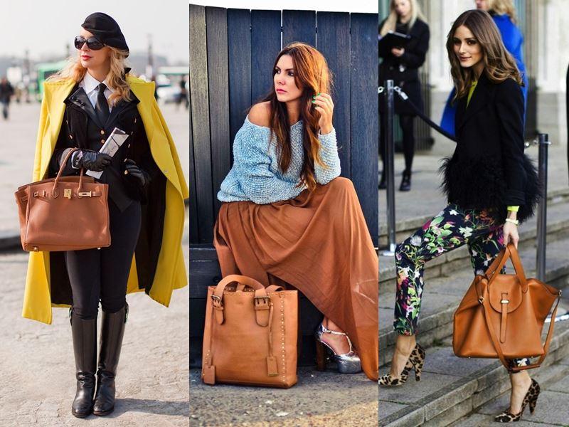 Стильные вещи осеннего гардероба - Рыжая сумка
