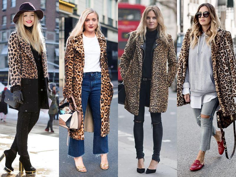 Стильные вещи осеннего гардероба - Леопардовое пальто с искусственным мехом