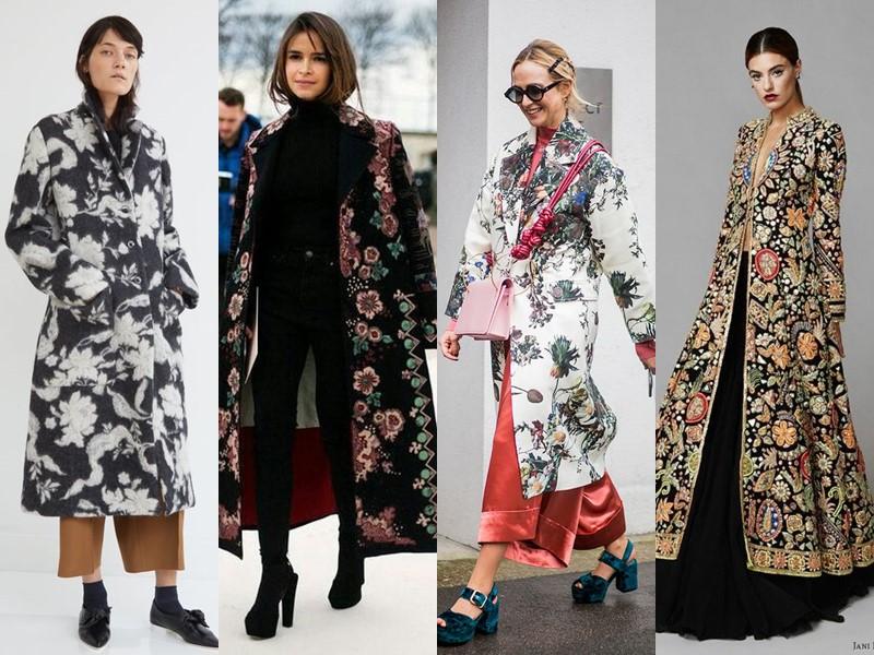 Тенденции в верхней одежде - боятся русские - Пальто с цветочным принтом