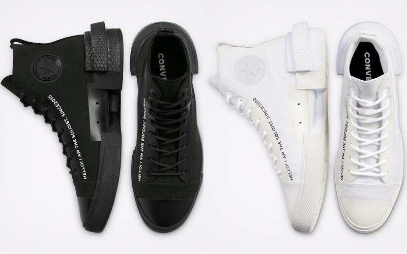Converse x TheSoloist: белые и чёрные футуристичные кеды - фото 2