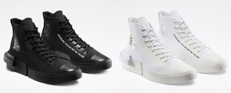 Converse x TheSoloist: белые и чёрные футуристичные кеды - фото 1
