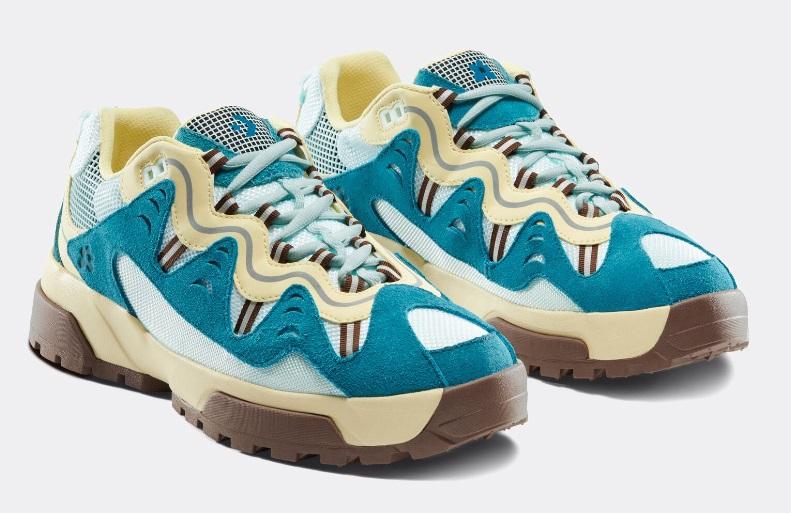 Новые расцветки кроссовок Converse GIANNO - жёлто-бирюзовые