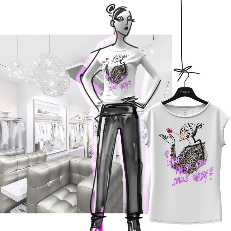 Коллекция футболок Marc Cain лето-2020 в рамках кампании What Made You Smile