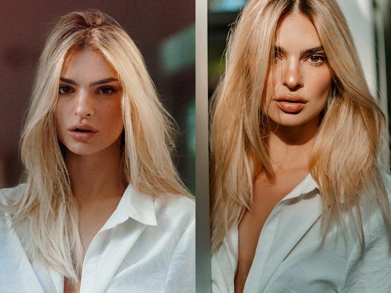 Эмили Ратаковски стала блондинкой (и лицом линии Blond Absolu от Kérastase)