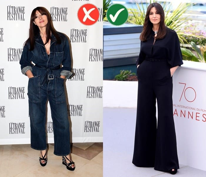Работа над ошибками: стиль Моники Беллуччи - Чёрный комбинезон вместо джинсового