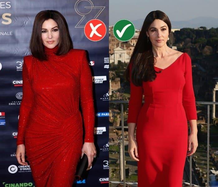 Работа над ошибками: стиль Моники Беллуччи - красное платье