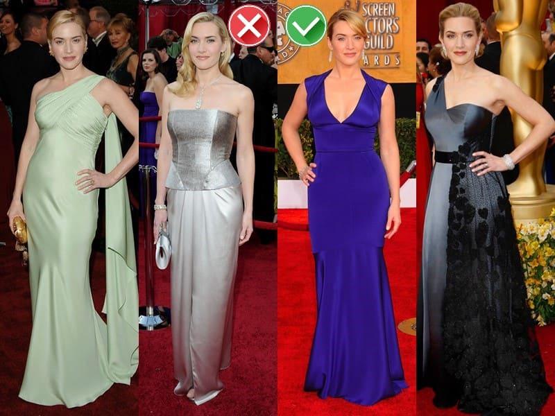 Звёзды в одежде неподходящих и удачных оттенков - Кейт Уинслет