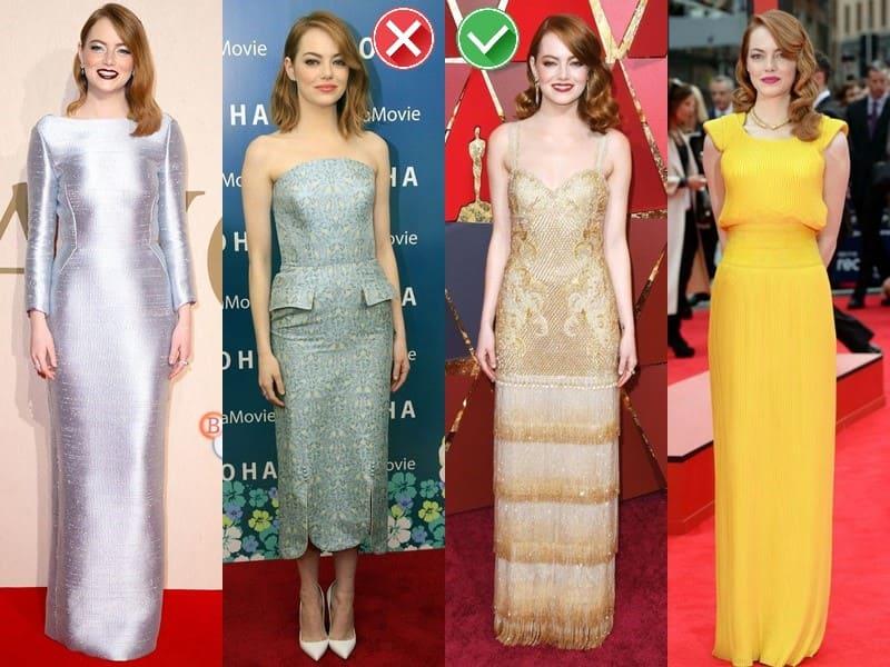 Звёзды в одежде неподходящих и удачных оттенков - Эмма Стоун