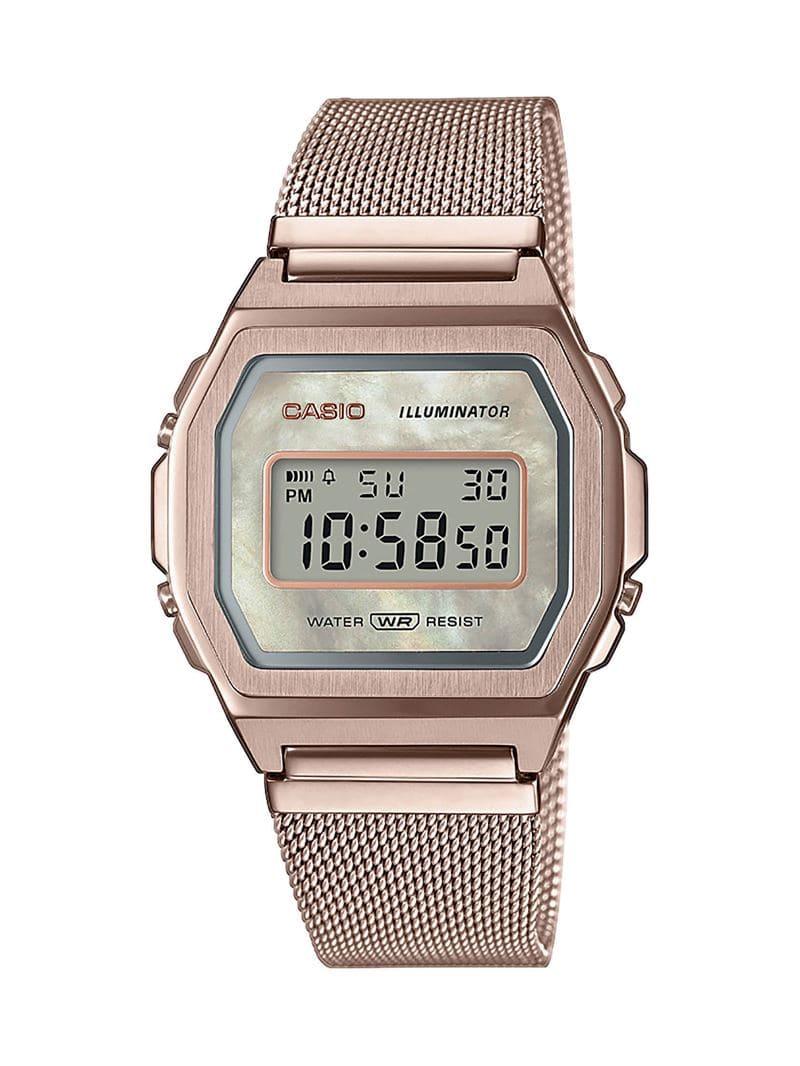 Коллекция наручных женских часов Casio Vintage Premium 2020 - розовое золото - модель A1000MCG-9EF