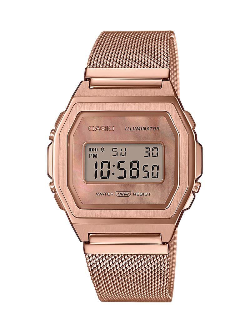Коллекция наручных женских часов Casio Vintage Premium 2020 - розовое золото - модель A1000MPG-9EF