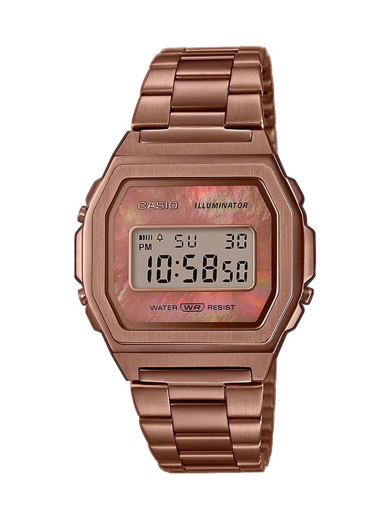 Коллекция наручных женских часов Casio Vintage Premium 2020 - розовое золото - модель A1000RG-5EF