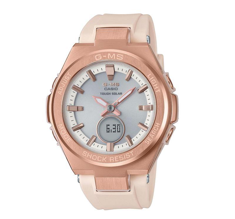 Новая модель женских часов G-MS от BABY-G - розовое золото
